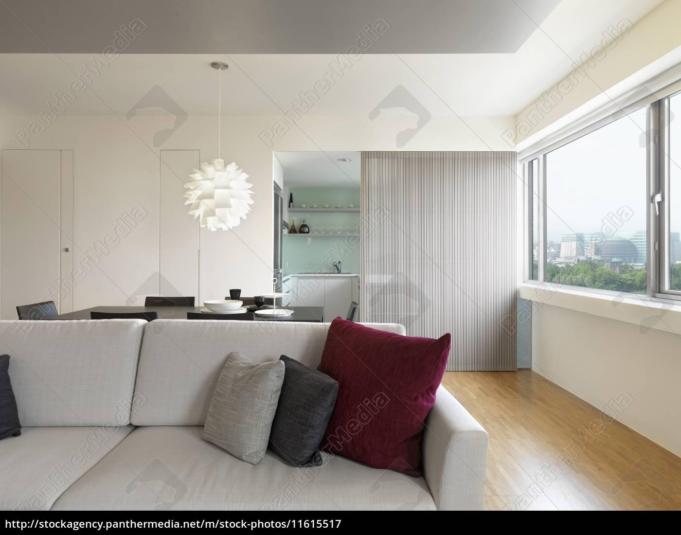 moderner wohnraum mit holzboden - Stockfoto - #11615517 ...