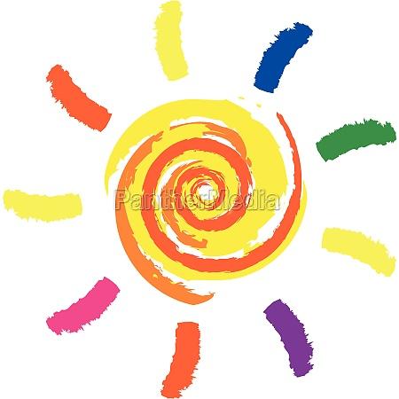 vector drawing sun
