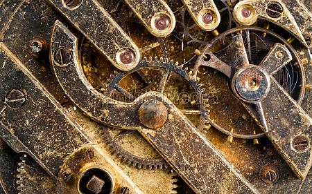 vintage verrostet uhr taschenuhr zeit stueck