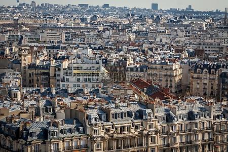 skyline, von, paris, mit, stadtbild, an - 11647360