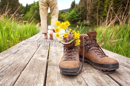 wanderer macht pause
