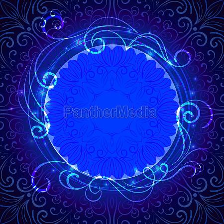 abstrakte blaue mystische spitze hintergrund mit