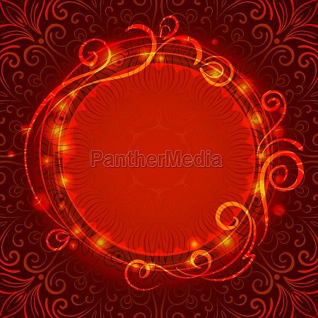 abstract red mystische spitze hintergrund mit