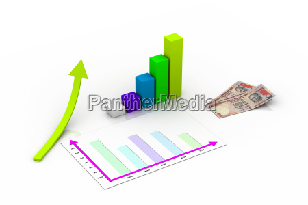 graph showing rise in profits or