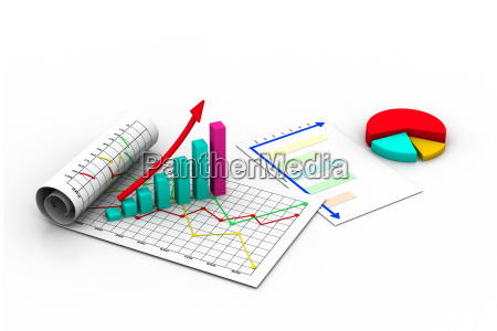 business graph with chart