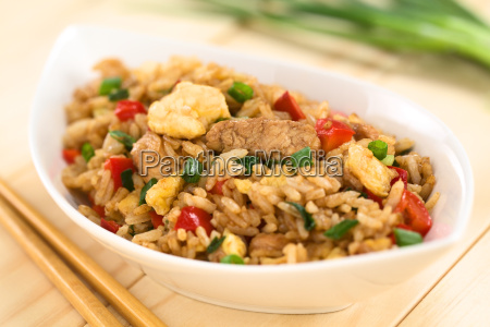 fried rice with vegetables chicken and