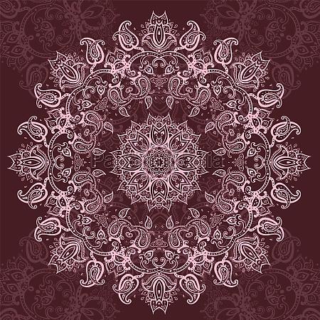 mandala indische dekorative muster