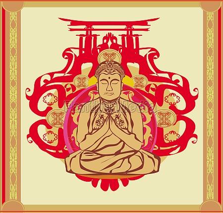 buddha abstract background beautiful ornament