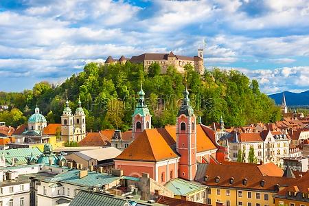 panorama von ljubljana slowenien europa