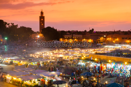 djemaa el fna marrakesch marokko