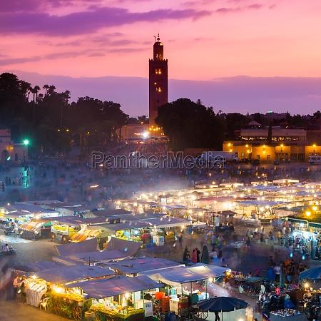 jamaa el fna marrakesch marokko