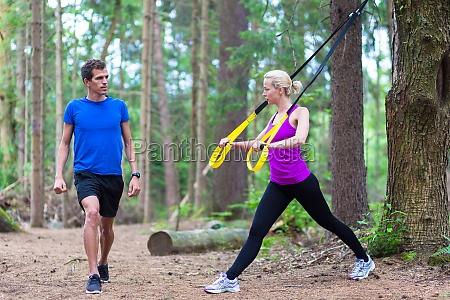 das training mit fitness im freien