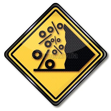 sign percent avalanche