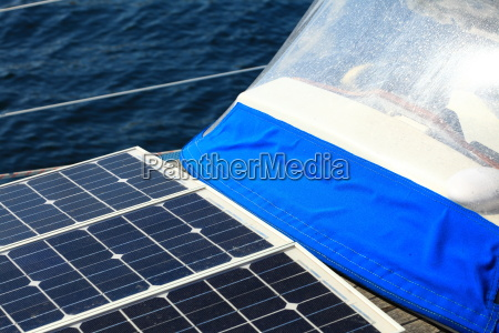 solar panels in sailboat renewable eco
