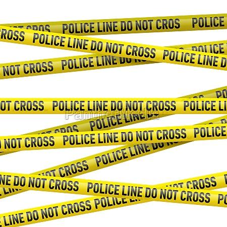 police danger tape