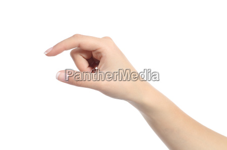 woman hand holding some like a