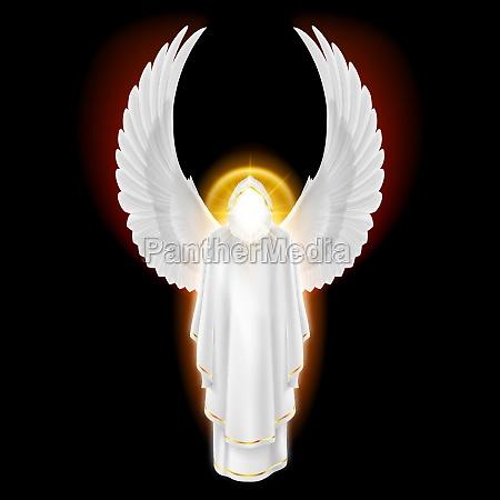 white angel on black