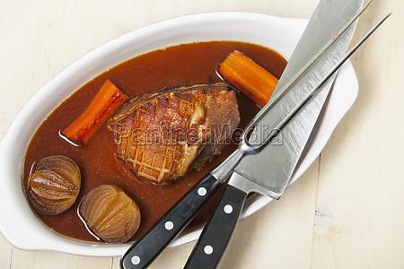 roast pork in a reindl