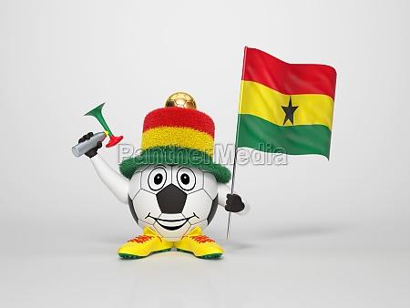 komisch lustig spassig ghana fan anhaenger