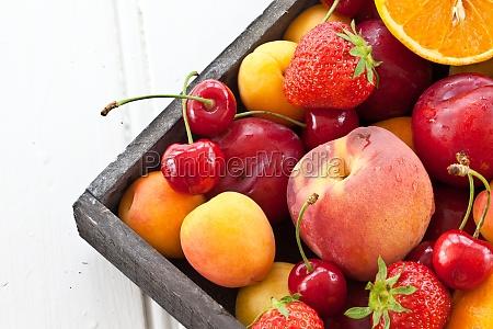 fresh colorful fruits
