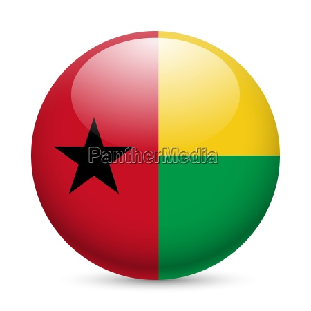 round glossy icon of guinea bissau