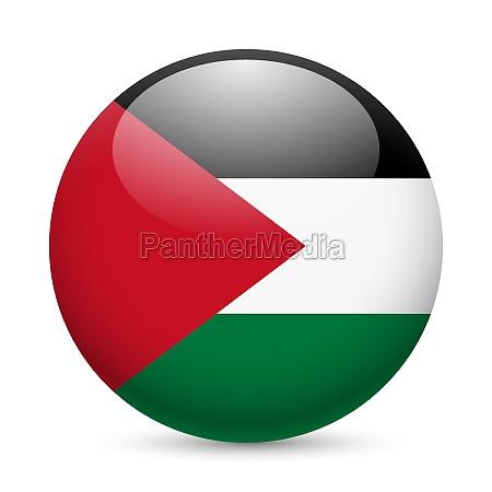 round glossy icon of palestine