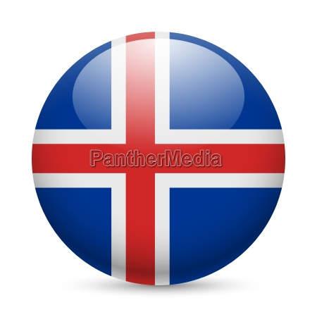 round glossy icon of iceland