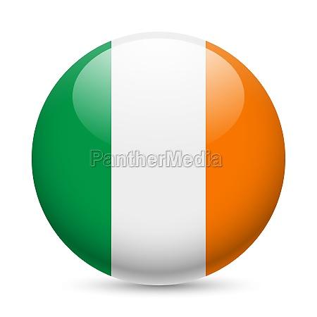 round glossy icon of ireland