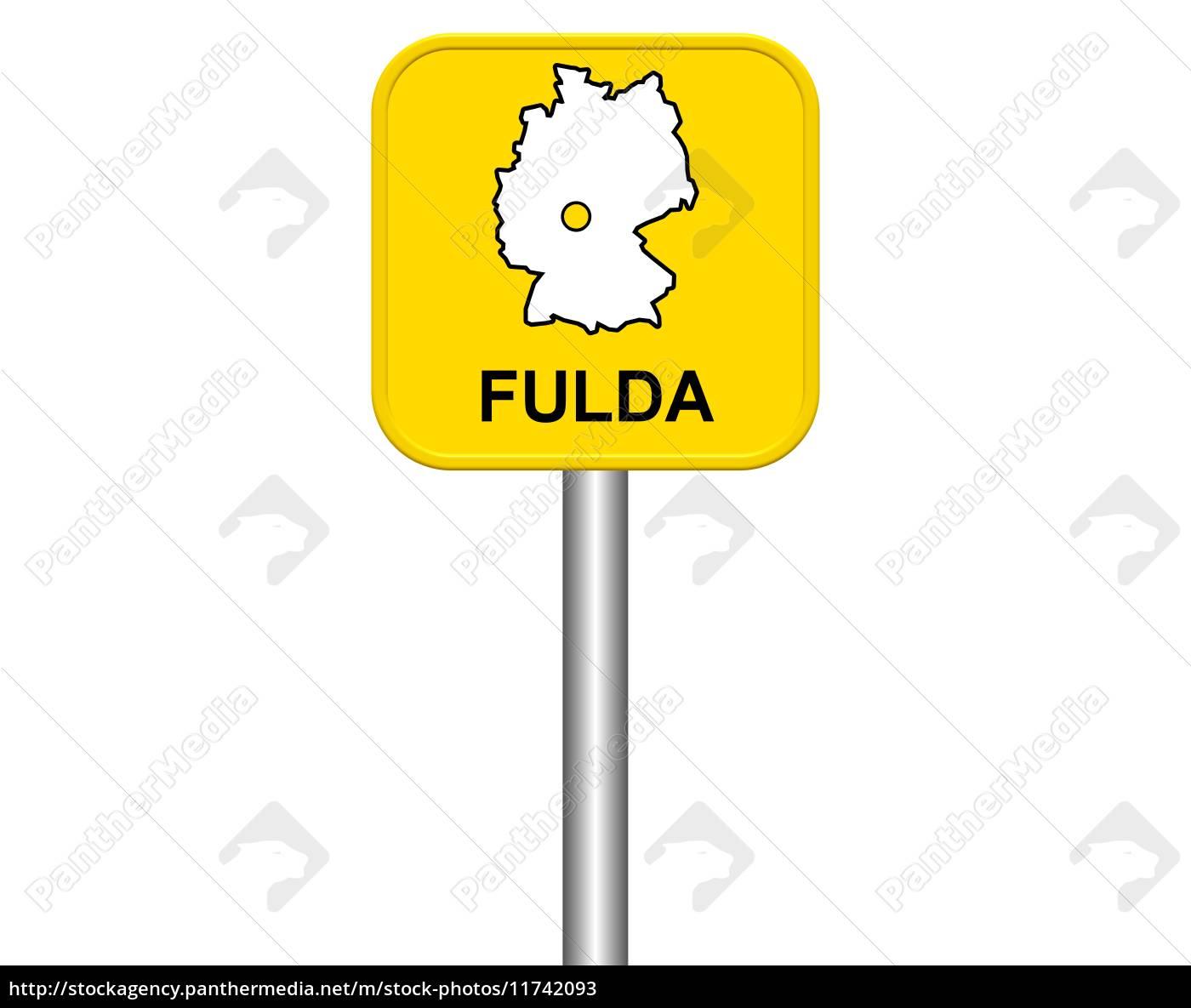 Ortseingangsschild Fulda Stockfoto 11742093 Bildagentur