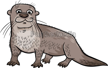 otter, tier, cartoon, illustration - 11746293