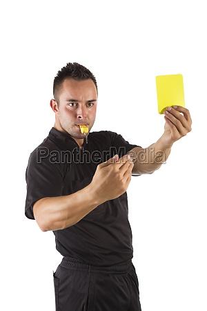 schiedsrichter mit gelber karte freigestellt