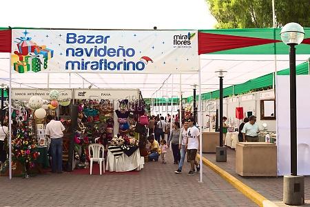 christmas market in miraflores lima peru