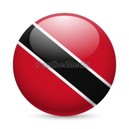 round glossy icon of trinidad and