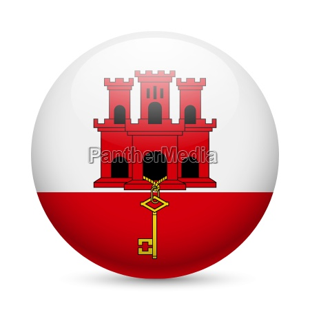 round glossy icon of gibraltar