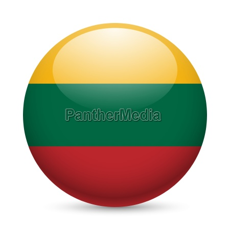 round glossy icon of lithuania
