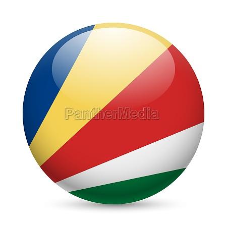 round glossy icon of seychelles