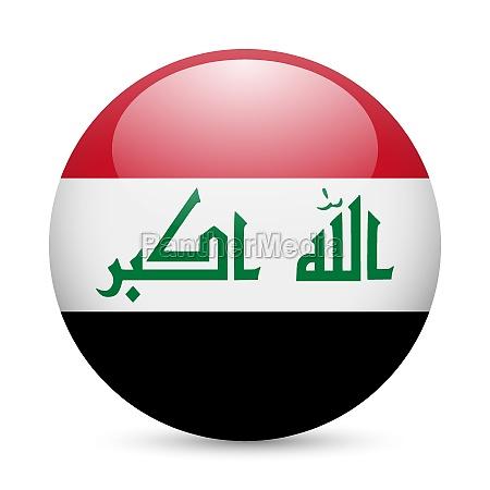 round glossy icon of iraq