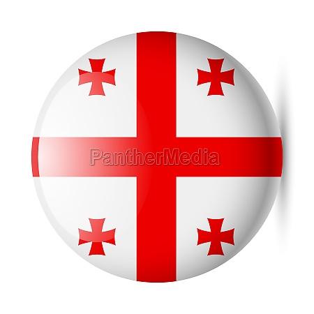 round glossy icon of georgia