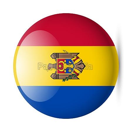 round glossy icon of moldova