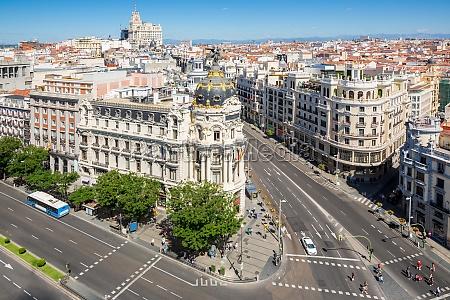 gran via madrid spanien