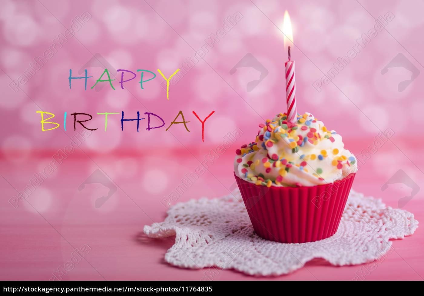 Cupcake Geburtstag Muffin Lizenzfreies Bild 11764835