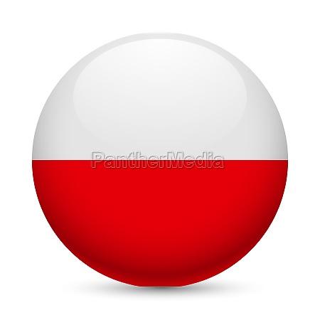 round glossy icon of poland
