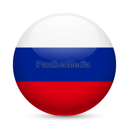 round glossy icon of russian federation