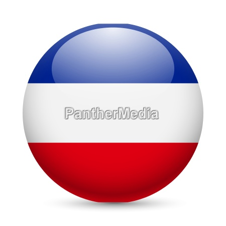 round glossy icon of yugoslavia