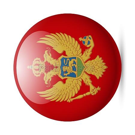 round glossy icon of montenegro