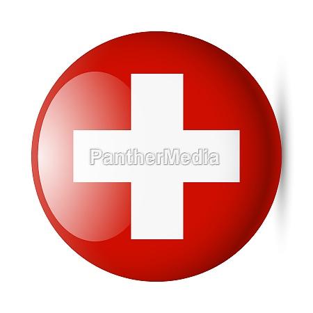 runde glaenzend symbol der schweiz