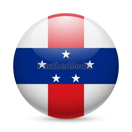 round glossy icon of netherlands antilles