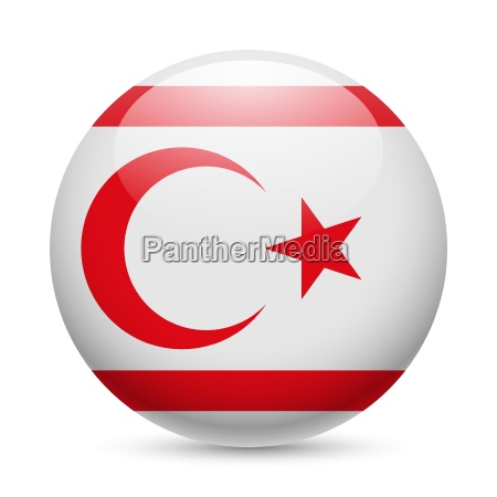 round glossy icon of northern cyprus