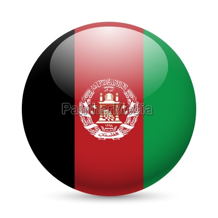 round glossy icon of afghanistan