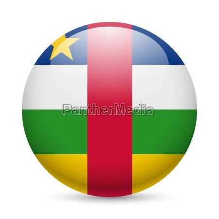 round glossy icon of central african